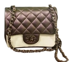 Chanel Iridescent Lambskin Iridescent Square Mini 2017 Quilted Shoulder Bag