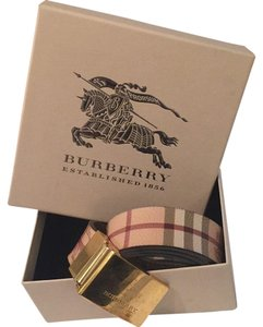 Burberry Burberry gold buckle hayMarket check pattern size 32/80