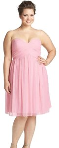 Donna Morgan Chiffon Sleeveless Sweatheart Neckline Cross Drape Bridesmaid Dress