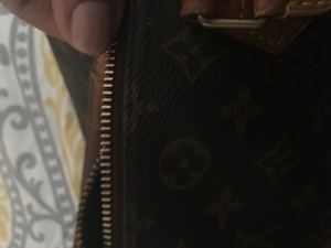 Louis Vuitton Canvas Leather Vintage Satchel in Monogram