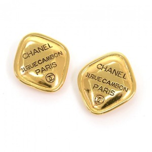 Chanel Vintage Chanel Black x Gold Tone Large Earrings CE340