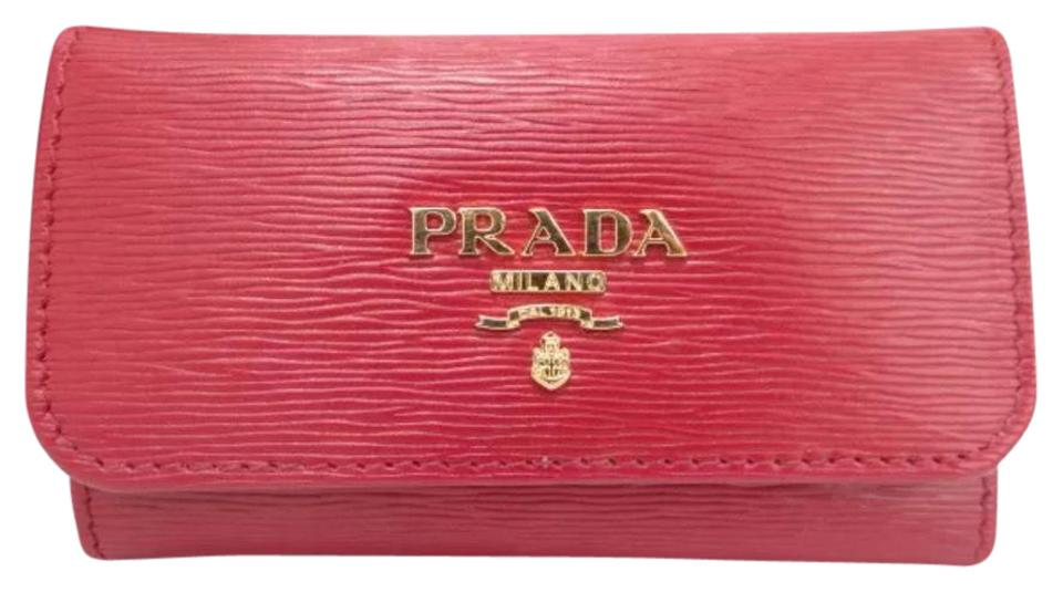 ed1651836fe849 Prada Red Epi Leather 6 Ring Key Case Holder Wallet - Tradesy