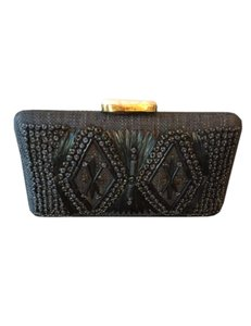 Tommy Bahama Embellished Cancion Black Clutch