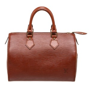 Louis Vuitton Satchel in Brown with Gold
