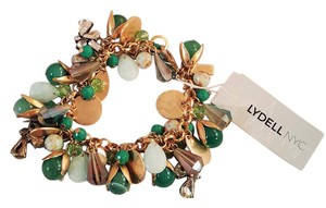 Lydell NYC Ravishing Lydell NYC Gold Plated Crystal Green Beads & Gold Disks