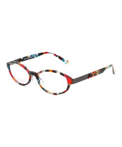 Betsey Johnson Red & Blue Abstract Readers with Hard Case