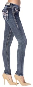 Rock Revival Skinny Jeans-Distressed