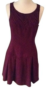 Free People short dress burgandy on Tradesy