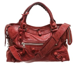 Balenciaga Satchel in Burgundy