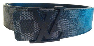 Louis Vuitton Size 105/42 Louis Vuitton Initiales Damier Graphite Belt Like New