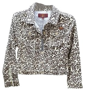 7 For All Mankind Child Girl Leopard GIRL'S Womens Jean Jacket