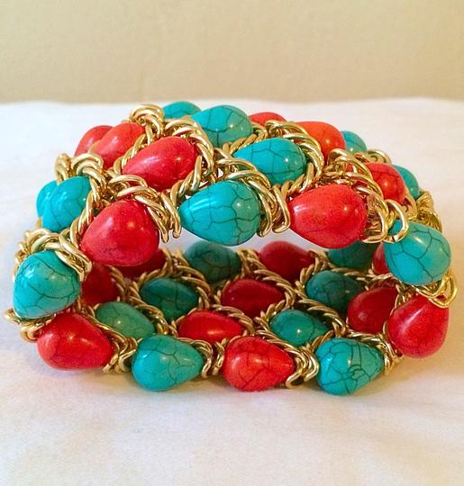Other Turquoise/ Coral bracelet cuff