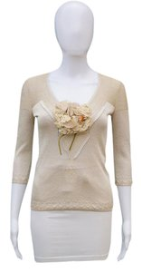 Dolce&Gabbana Floral Brooch Lace Sweater