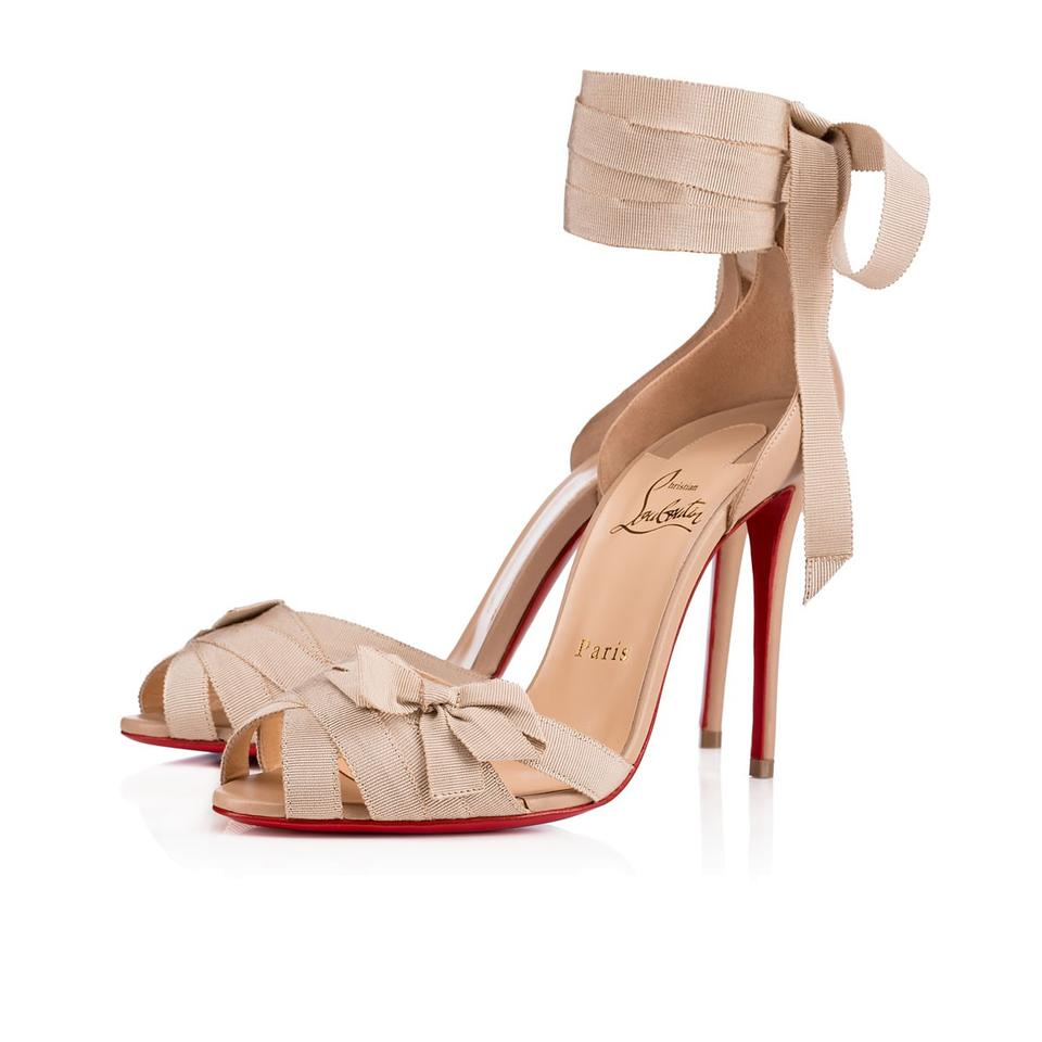 72dc4058341 Christian Louboutin Christeriva 100mm 4 Inch New nude Sandals Image 0 ...