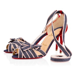 Christian Louboutin Christeriva 85mm 3.5 Inch Heel New denim Sandals