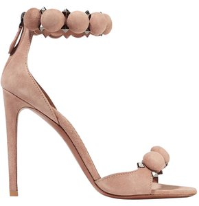 ALAÏA Alaia Studded Suede New nude Sandals