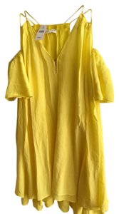 APIECE APART short dress yellow Silk Cold Shoulder on Tradesy