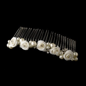 Elegance By Carbonneau Pretty Pearl Bridal Hair Comb 594