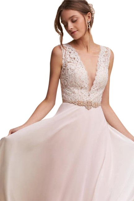 Item - Ivory Shell Blush Lining Taryn Gown- 40845408 Feminine Wedding Dress Size 6 (S)