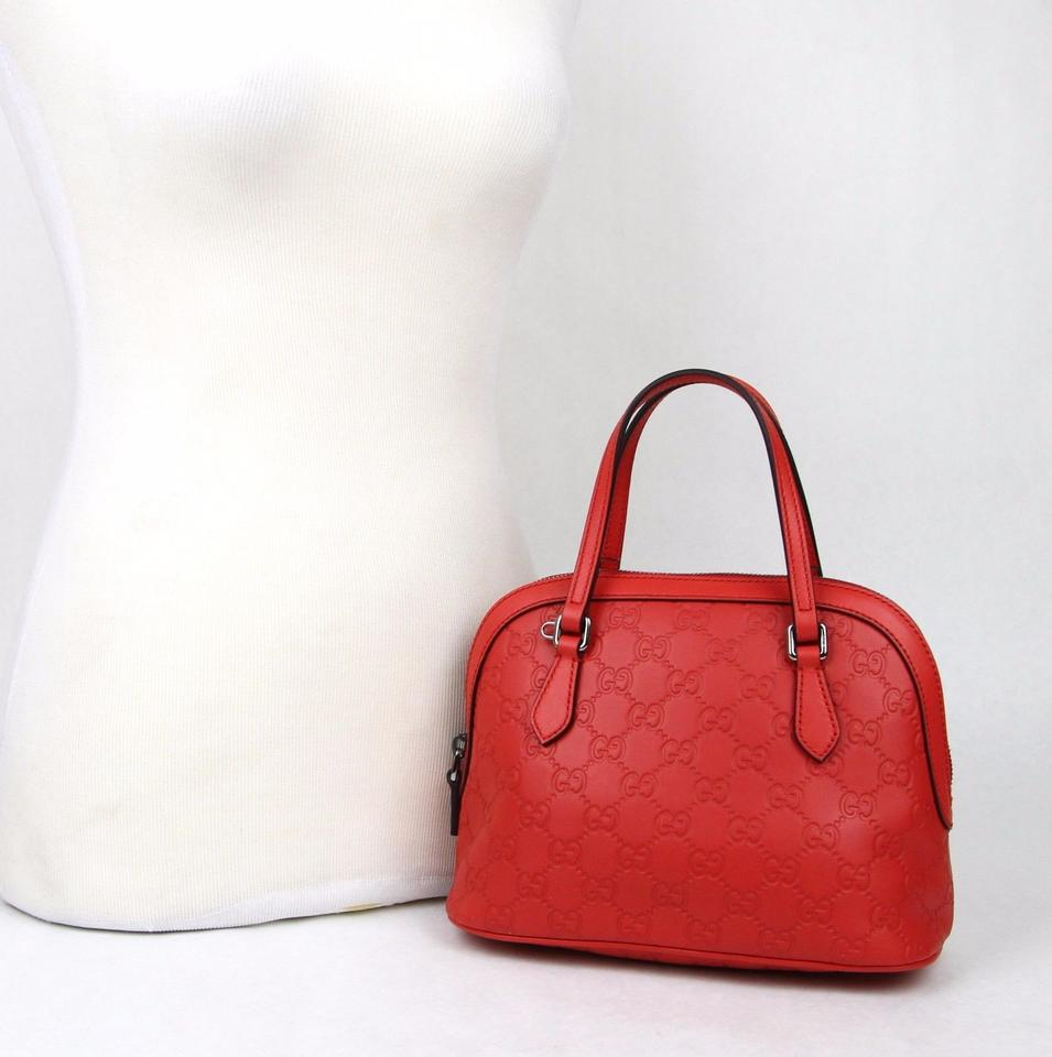 bbafe0d49be Gucci Dome Convertible Guccissima Mini Purse 341504 6511 Red Leather ...