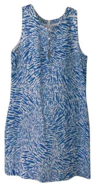 Item - Blue and White Castaway Shift Short Casual Dress Size 8 (M)