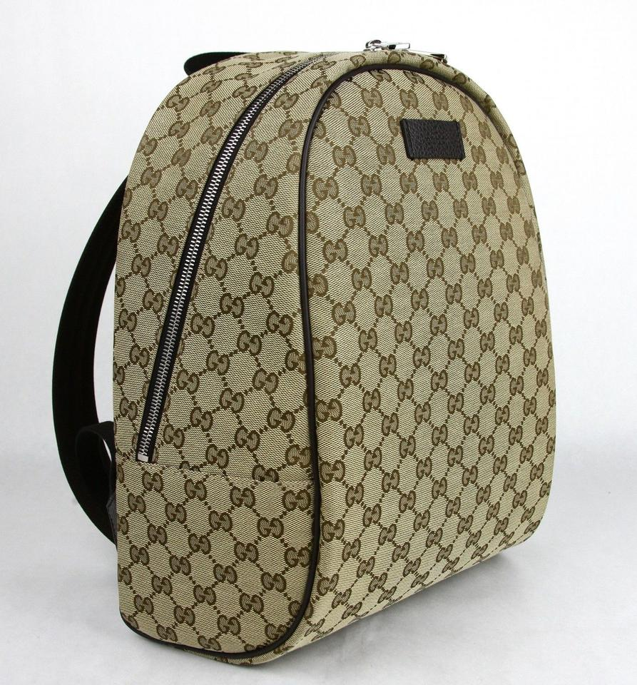 6432085d307aba Gucci Beige/Brown Zipper Top 449906 9873 Beige/Brown Gg Canvas Leather  Backpack - Tradesy
