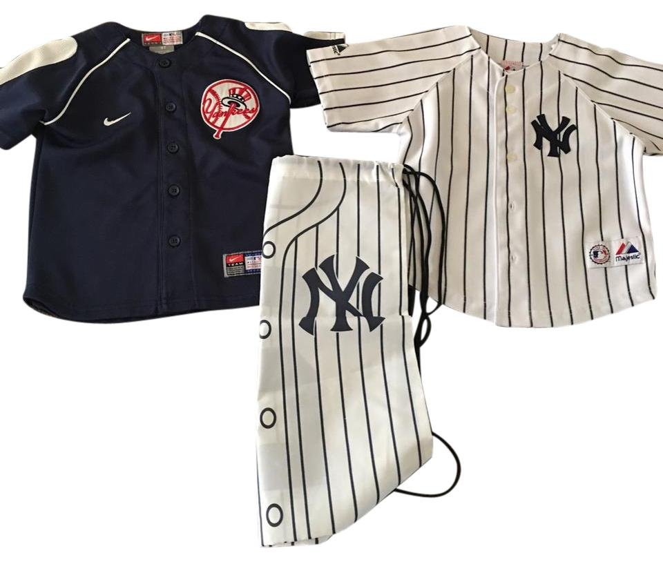 more photos 30e1b 49e3f Nike MLB Navy/White And Majestic Ny Yankee Baseball Jerseys Activewear  Sportswear Size OS (one size) 63% off retail