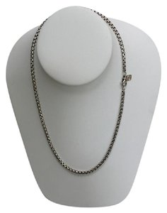 David Yurman Sterling Silver 3.6mm Box Chain w/ 14K Yellow Gold Detail