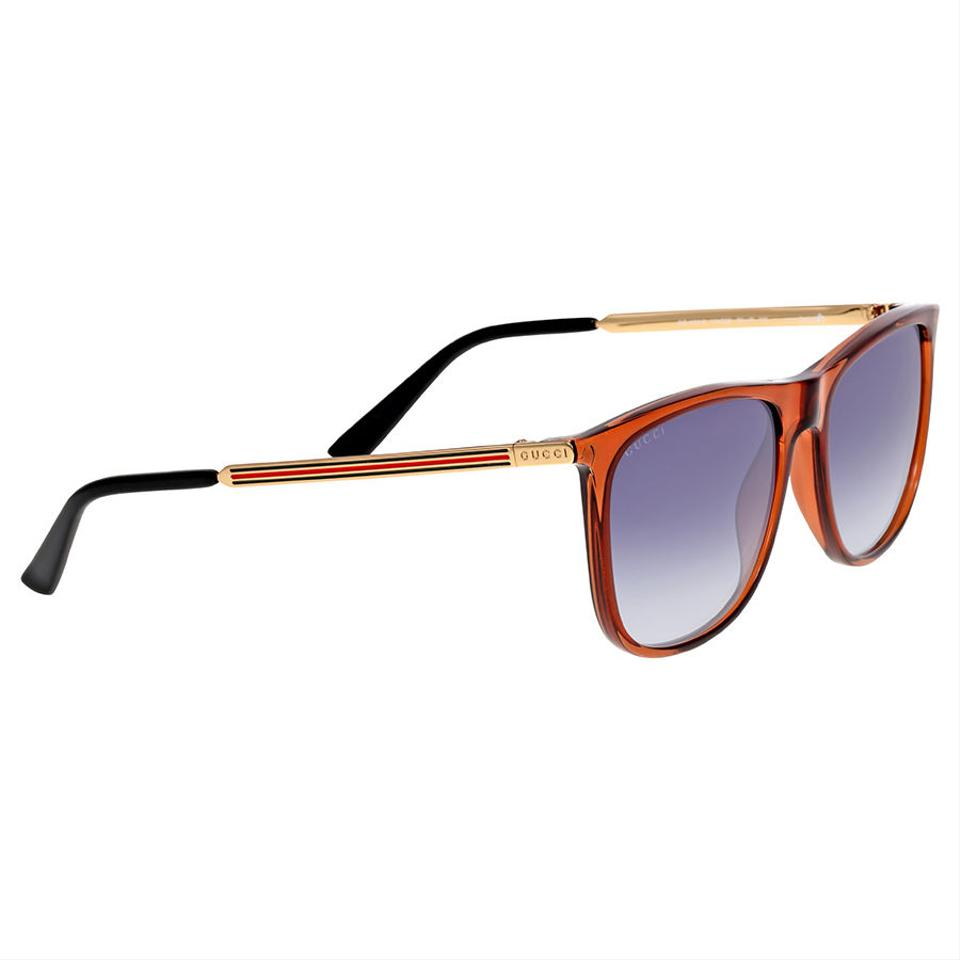 aaa65a6e85a6c Gucci Blue Gradient Lens Square Shape Authentic Unisex Sunglasses - 27% Off  Retail