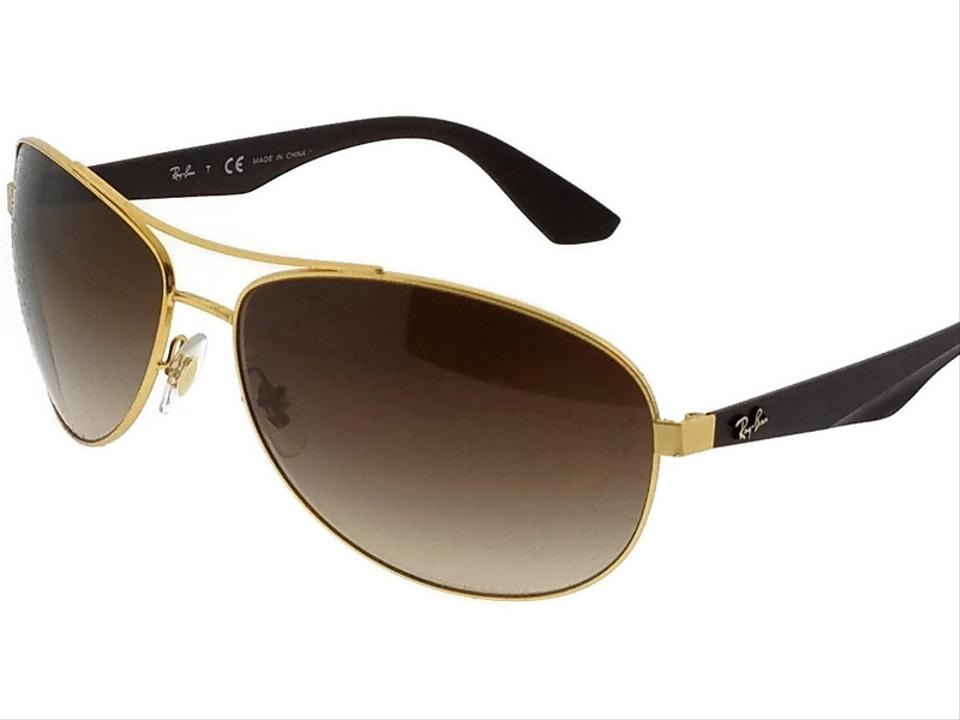 31875bbd1cb Ray-Ban RB3526-112-13 Lifestyle Men s Gold Frame Brown Lens Sunglasses  Image. 123