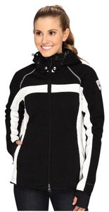 Dale of Norway Weatherproof Knit Hooded black and white Jacket