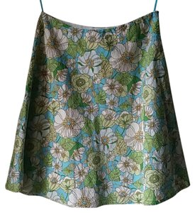 Gap Skirt Blue, green, white, brown