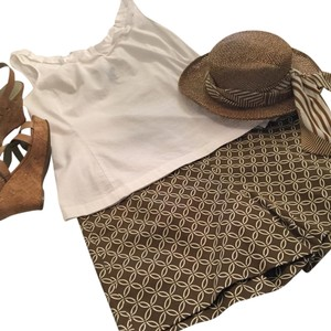 INC International Concepts Mini/Short Shorts brown and cream