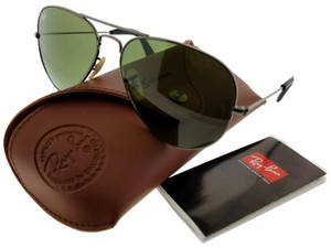 Ray-Ban RB3025-184-4E-58 Aviator Unisex Gunmetal Frame Green Lens Sunglasses