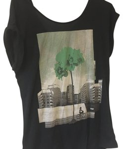Bench T Shirt black with green tree