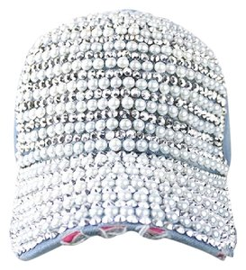 Other Retro Chic Boho Rhinestone Crystal Pearl Accent Jeans Baseball Cap