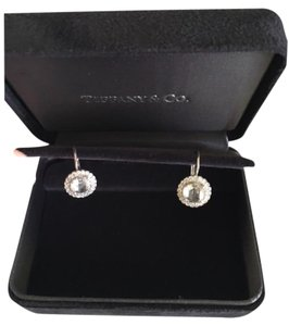 Tiffany & Co. Tiffany Floral Large Rose Cut Diamond Earrings with Diamond Halo
