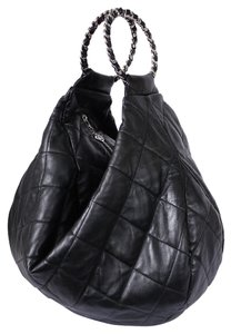 Chanel Vintage Classic Xl Jumbo Tote in Black