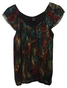New Directions Top Brown/Multi