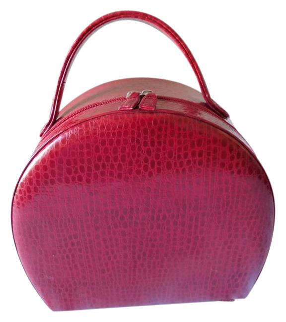 Item - Fancy Make Up Style Deep Red Tote