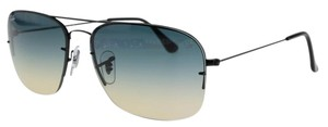 Ray-Ban RB3482-002-79 59mm Black Blue Aviator 100 % UV protection sunglasses