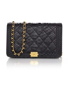 Chanel Python Exotic Boy Wallet On Chain Cross Body Bag