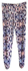 Parker Relaxed Pants cobalt blue,white, rust multi-color