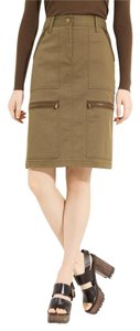 Michael Kors Pencil Cargo Straight Pockets Skirt Military green
