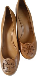 Tory Burch Leather Brown Wedges
