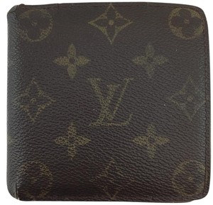 Louis Vuitton #11425 *Clearance* Monogram Bifold Compact Wallet card coin holder
