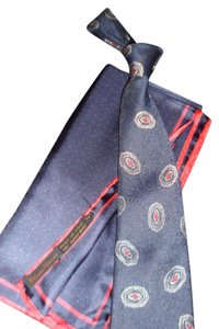 Oscar de la Renta Oscar de la Renta Mens SILK Tie and Matching NM Pocket Square