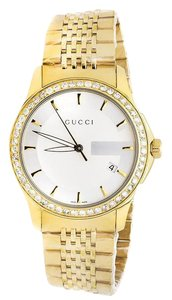 Gucci 101 G-Timeless Yellow Gold Swiss Diamond Watch YA126409 2.0 Ct