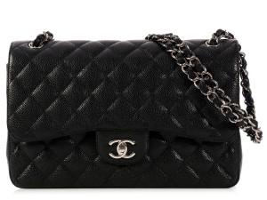Chanel Flap Caviar Double Flap Caviar Shoulder Bag