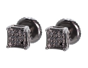 Other Mens Ladies 5mm Black Diamond Prong Mini Stud Earrings 1/20ct